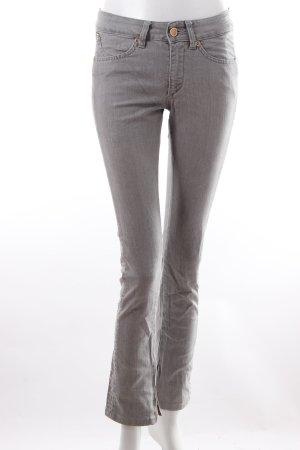 Superfine Jeans slim gris coton