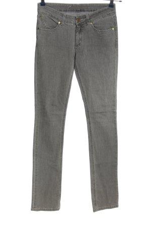 Superfine Jeans coupe-droite gris clair style décontracté
