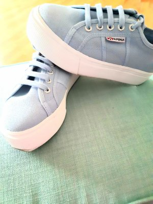 Superga Baby Blau Plateau Sneaker