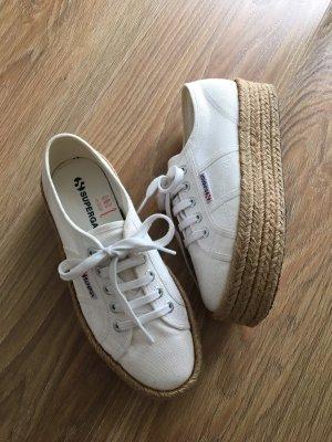 Superga Espadrilles Sneaker Weiß Plateau 38