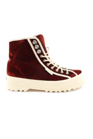 Superga High Top Sneaker rot Casual-Look