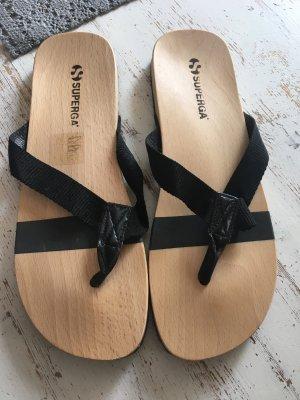Superga Sandalo toe-post nero