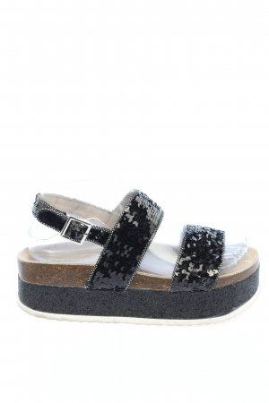 Superga Komfort-Sandalen schwarz Casual-Look