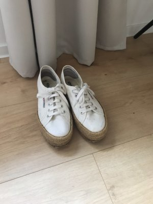 Superga Lace Shoes natural white-brown