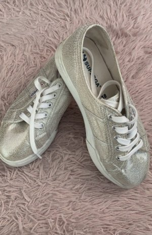 Superga Sneakers met hak grijs-groen
