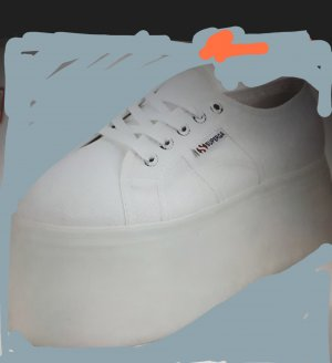 Superga Heel Sneakers white cotton
