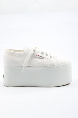 Superga Platform Trainers white casual look