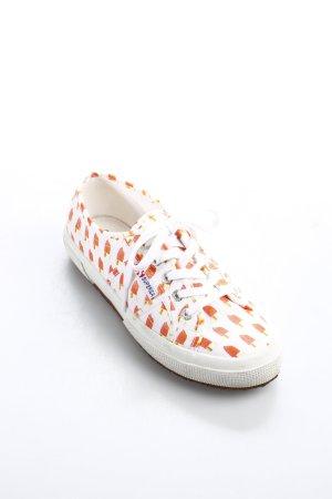 Superga Schnürschuhe weiß-orange Casual-Look
