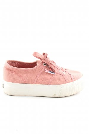 Superga Schnürsneaker pink Casual-Look
