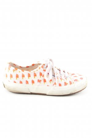 Superga Schnürsneaker Allover-Druck Casual-Look