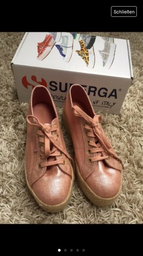 Superga Wedge Sneaker rose-gold-coloured-beige