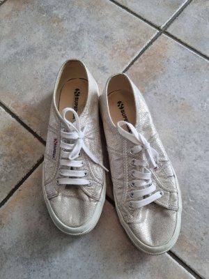 superga sneaker low in silber