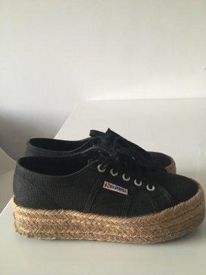 Superga Sneaker mit Juteplateau