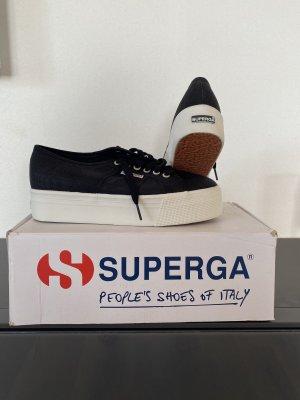 Superga Sneaker stringata nero-bianco