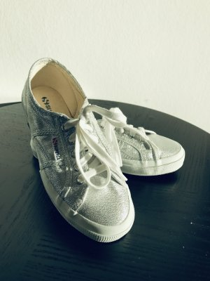 Superga Sneaker Silber, neuwertig, Gr. 38 (39)