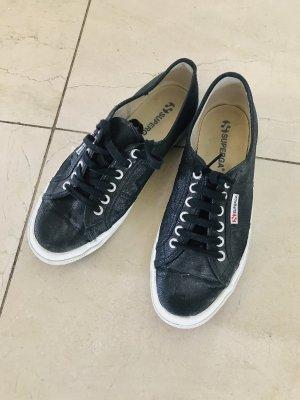 Superga sneaker sneakers Schuhe schwarz glitzer