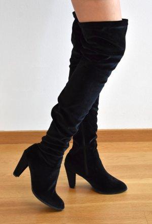 Vintage Overknees black