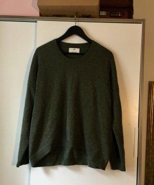 Allude Kaszmirowy sweter zielono-szary