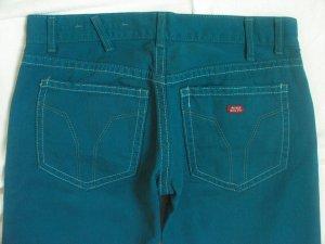 Miss Sixty Jeans coupe-droite bleu cadet-bleu pétrole coton