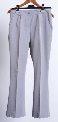 Alba Moda Pantalon à pinces argenté polyester