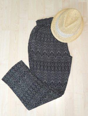 Superleichte Stoffhose mit schwarz/weiß-Muster (100% Viskose) - NEU!!