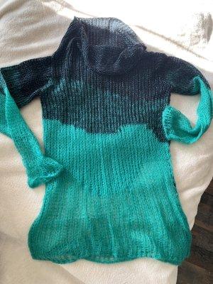 Diesel Pull tricoté noir-vert acétate