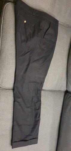 Monocrom Woolen Trousers dark blue wool