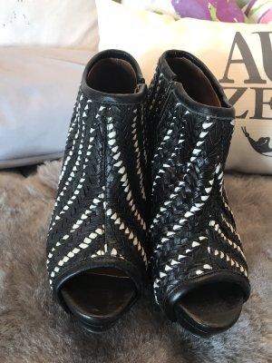 Zara Woman Bottes à bout ouvert multicolore cuir