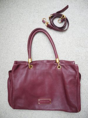"Superschöne, bordeauxfarbene Leder-Tasche von ""Marc by Marc Jacobs"" – Modell ""Too hot to handle-Bag"" (oversized)"