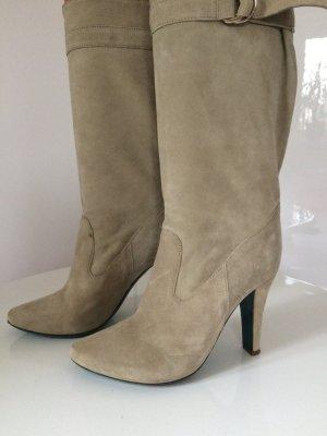 Superschöne Echtleder Stiefelette Stiefel von PATRIZIA PEPE grau Wilderleder37