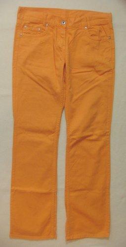Superschöne, leichte Sommer-Hüft-Jeans von THE HIP SITE in sommerlichem Orange, Größe W27, DE 34