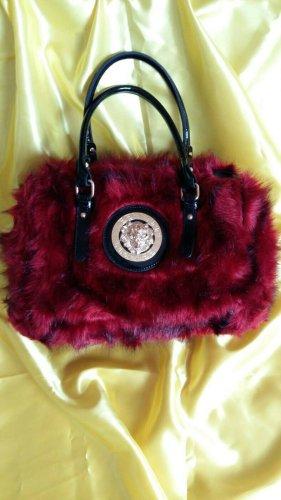 Superschöne rot - schwarze Handtasche / Bowlingbag - nie ausgeführt, super Zustand