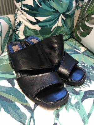 Janet D Heel Pantolettes black leather