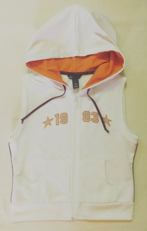 H&M L.O.G.G. Gilet de sport blanc-orange clair polyester