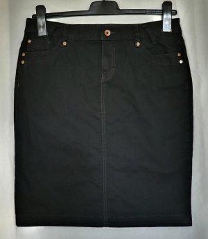Superschöner Jeansrock im 5-Pocket-Style von Esprit Denim in schwarz aus Baumwollstretch in Größe 40