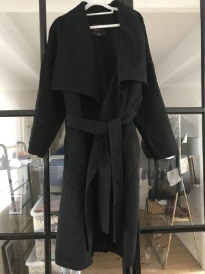 Massimo Dutti Cappotto in lana nero