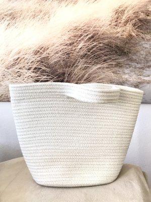 Superschöner Korb aus textilem Material * mit Silberfäden * Einkaufstasche * Badetasche