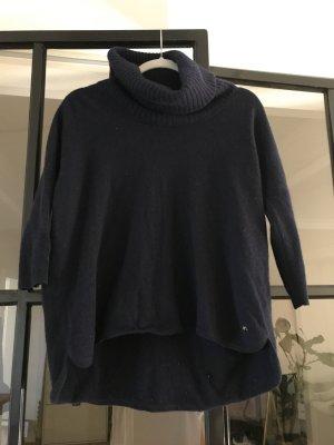 Massimo Dutti Sweter oversize ciemnoniebieski