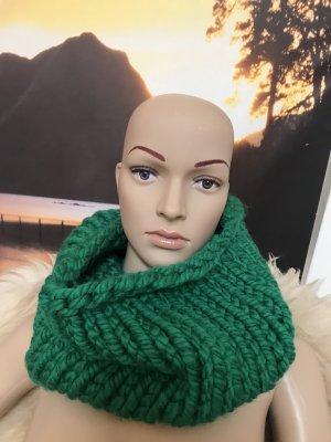 Handmade Bufanda tubo verde-verde bosque Acrílico