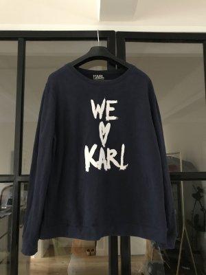 Superschönes Karl Lagerfeld Sweatshirt in navy mit weißem Aufdruck.