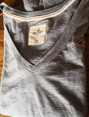 Hollister T-shirt col en V gris