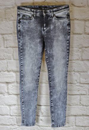 Superstretch Acid Washed Jeans Hose Cambio Größe 36 38 Denim Schwarz Used Grau Skinny Blogger