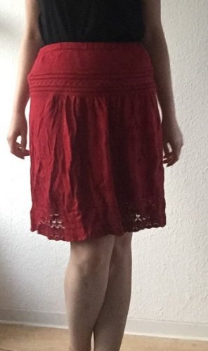 Promod Knitted Skirt red