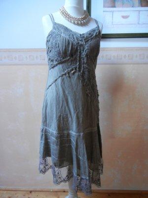 Elisa Cavaletti Pinafore dress grey-grey brown cotton
