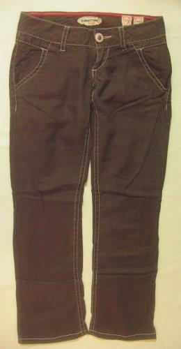 Supertolle Leinen Sommerhose/Hüfthose/Pants von INDIAN ROSE in Braun, Größe W27, DE34
