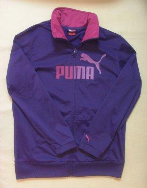 Supertolle PUMA Sportjacke in violett..großes Logo..Größe DE 40/42, L/XL
