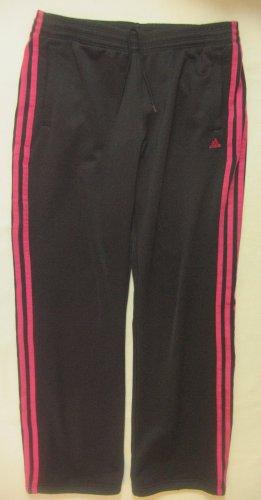 Supertolle Sporthose, Trainingshose von ADIDAS in Schwarz mit Pink, Größe Medium, DE 38/40
