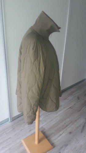 Oversized Jacket olive green-green grey cotton
