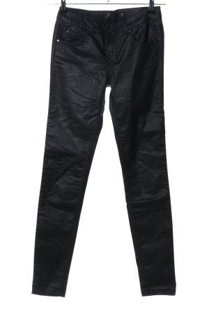 Supertrash Pantalon cinq poches noir style décontracté