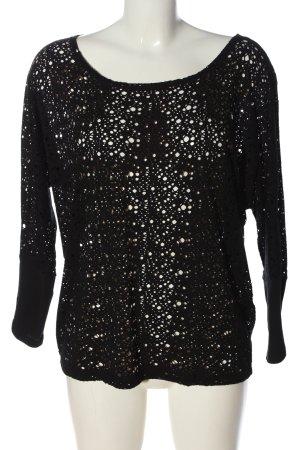 Supertrash Siateczkowa koszulka czarny W stylu casual
